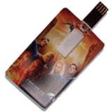 personalised card shaped usb memory stick FCD-092